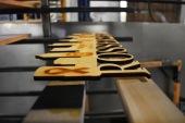 Close up laser cut wood